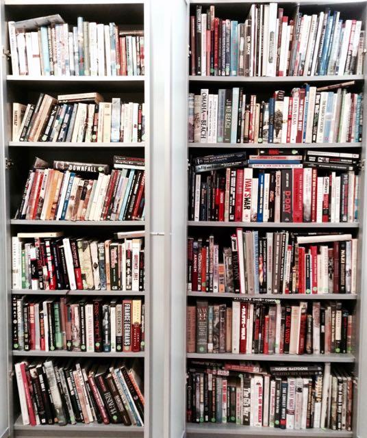 One of Roy's bookshelves.