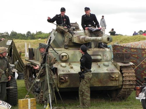 one of the military tanks at War & Peace