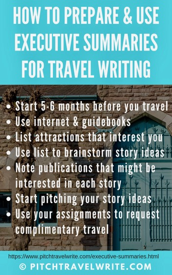 using executive summaries can help travel writers have more success