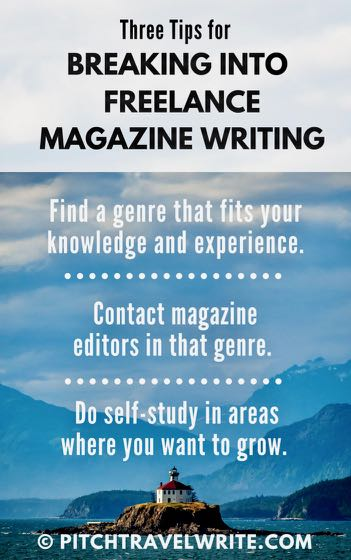 three tips for breaking into freelance magazine writing