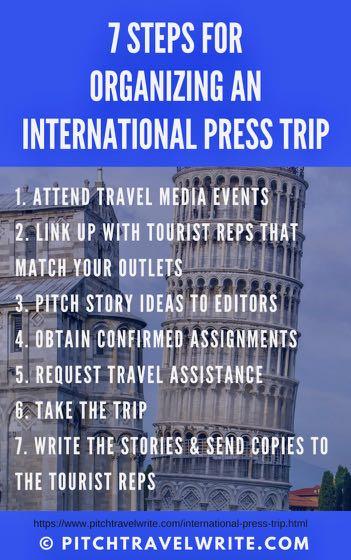 7 steps for organizing an international press trip