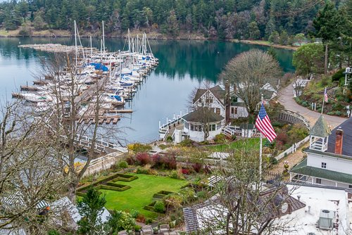 luxury travel writing includes visiting places like Roche Harbor on San Juan Island in Washington State
