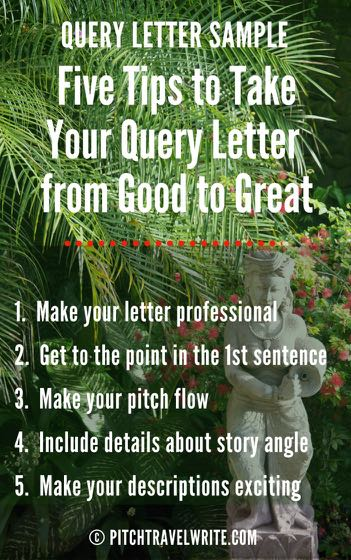 query letter sample and 5 tips to make your query great