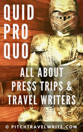 quid pro quo for travel writers