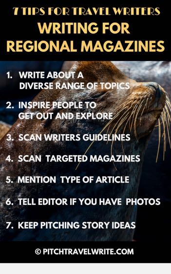7 tips when you're writing for regional magazines