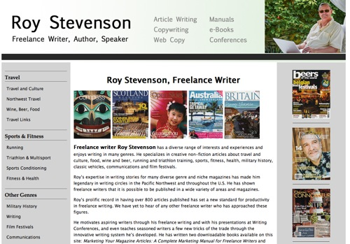 a professional travel writer's website is a necessity if you're a freelance writer