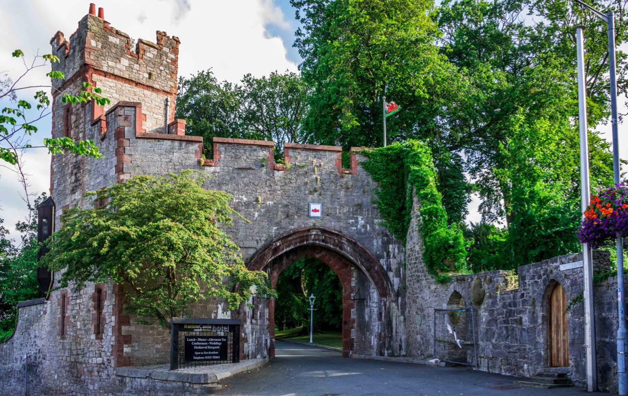 Ruthin castle in England