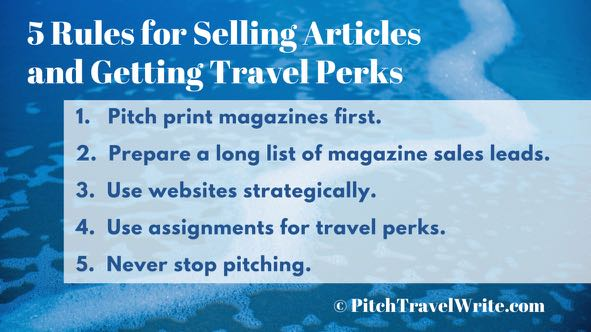 selling articles and getting travel perks
