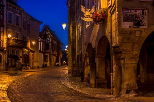 small cobblestone village in France