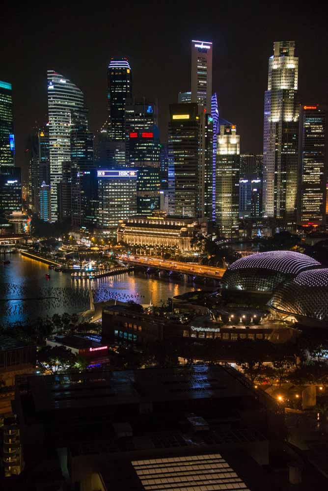 night photo of Singapore around 2016
