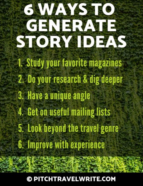 6 ways to generate story ideas