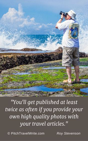 providing your own travel photographs will help you get published more.