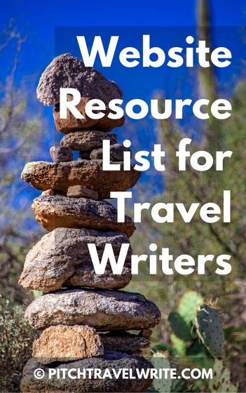This is a website resource list for travel writers