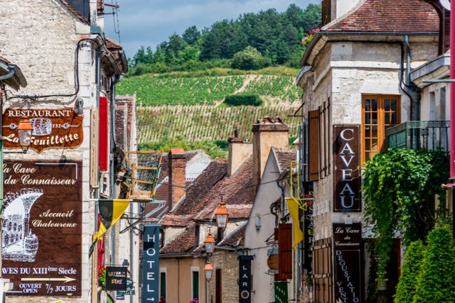 on a press trip for travel writers we toured this wine village in France