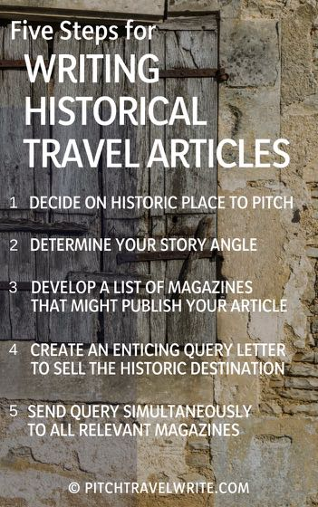 tips for writing historical travel articles